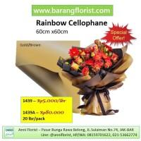 Rainbow Cellophane 20 lbr/pack (1439A), kertas bunga, aksesoris bunga