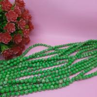Batu simple motif 6m hijau / Beads bahan kalung dan gelang