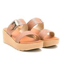 Sandal Wedges Wanita Carvil Groove 02 /Sandal Carvil/sandal Wanita