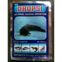 DROPSI 30gr New Antibiotik Ikan Udang Anti Kembung Pendarahan Berputar