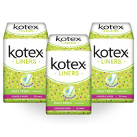 Kotex Liners Longer & Wider Unscented 32s 3 Pack