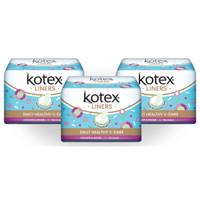 Kotex Liners Longer & Wider Anti Bacteria 16s 3 Pack