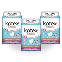 Kotex Liners Longer & Wider Anti Bacteria 32s 3 Pack