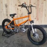 Frame Rangka Custom Motor Sepeda BMX Cub Rigid