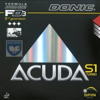 Donic Acuda S1 Turbo / karet bet pingpong - Hitam