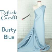 HijabersTex 1/2 Meter Bahan Kain ROBERTO CAVALLI Dusty Blue