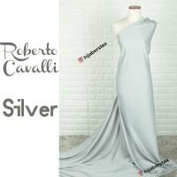 HijabersTex 1/2 Meter Bahan Kain ROBERTO CAVALLI Silver
