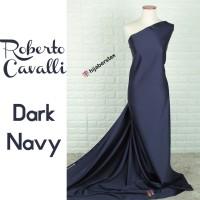 HijabersTex 1/2 Meter Bahan Kain ROBERTO CAVALLI Dark Navy