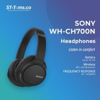 Sony WH-CH700N / WH CH700N / CH700 N Wireless N.C Headphones - Black