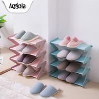 Angola Rak Sepatu 4 Susun S1 Shoe Rack Rak Buku Tempat Sepatu & Sandal - Merah Muda