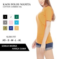 KAOS POLOS SLIM FIT WANITA BASIC TEES COTTON COMBED 30s MURAH NYAMAN - XS