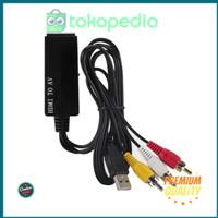 Murah ONLENY Kabel Konverter HDMI to AV PAL NTSC - ON43 - Black gp4715