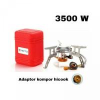 Paket Kompor Gas Lipat Portable AOTU kompor ultralight 3500W adaptor