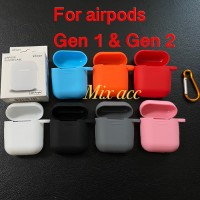 Apple Airpods Silicone Case Cover Pouch Airpods Gen 1 Gen 2 - Hitam