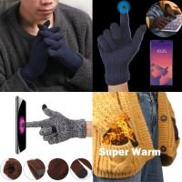Sarung Tangan Pria / Wanita Model Sport Touch Screen Hangat untuk