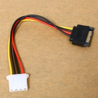 Female v08 Kabel Power Adapter Connector 4Pin Male to IDE SATA