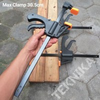 Heavy Duty F Clamp 12 Inch Quick Grip Catok Klem Kayu DIY Woodworking