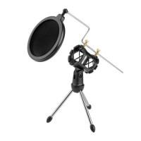 Zeepin Mini Tripod Stand Mikrofon Universal dengan Pop Filter - PS-05