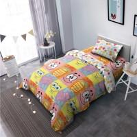 WW Bed Cover Kintakun Dluxe - SPONGEBOB - sprei FLAT - 120x200