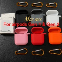 Apple Airpods Protection Silicone Case Pouch - Hitam