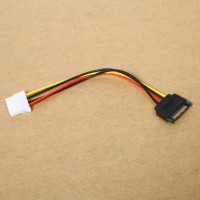 Kabel Power Adapter Connector 4Pin Male to IDE SATA 15-Pin Female