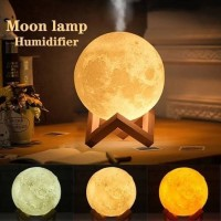 Lampu tidur Humidifier Diffuser Essential oil 3D Moon Lamp Light
