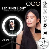 RING LIGHT LED 26CM + TRipod MultiColor Make Up Vlog Tiktok Ringlight
