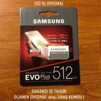 MicroSD Micro SD ORIGINAL SAMSUNG EVO PLUS 512 GB 512GB Memori Card