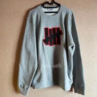 Undefeated Crewneck Sweater 5 Strike Grey Heather 100% Original New