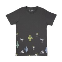 Kaos Never Too Old Project Tshirt Snoopy Cactus T Shirt Brown Peanuts
