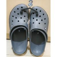 Sandal Crocs Original Crocband Bold Logo Clog Grey