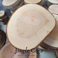 Wood slice 20 - 22 cm potongan kayu rustic woodslice seserahan foto