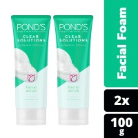 Ponds Clear Solutions Facial Foam 100G Twin Pack