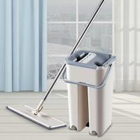 Alat Pel Lantai Microfiber Sodok Pel self cleaner magic mop bucket