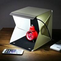 PHOTOBOX + LED Photo Studio Mini Box Portable Lampu Kotak Lipat