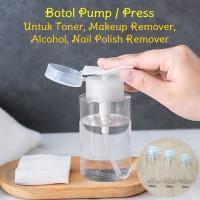 300ml Botol Pump Press Toner Makeup Remover Nail Polish Alcohol