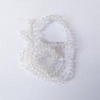 Manik-Manik Bentuk Bulir Warna Putih Transparan (1 Renteng)