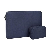 Tas Laptop Softcase Waterproof Nylon High Quality 14 15 inch - navy
