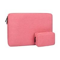 Tas Laptop Softcase Waterproof Nylon with pouch 14inch pink