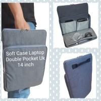Tas Laptop Double pocket Macbook,Asus,Lenovo ukuran 14 inch ABU