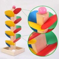 edisi Pohon - Mainan edukasi Anak Marble Run Edisi Pohon Kayu