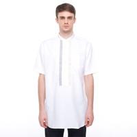 Salt n Pepper Baju Muslim Koko Lengan Pendek 035 White - Putih, XXL