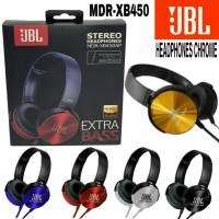 Earphone Headset Headphone Bando JBL MDR XB450 XB-450 + Mic EXTRA BASS