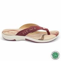 Homyped Ashley N32 Marun Sandal Flat Wanita