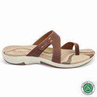 Homyped Ashley N33 Coklat Sandal Flat Wanita