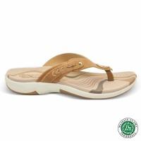 Homyped Ashley N32 Coklat Muda Sandal Flat Wanita