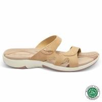 Homyped Ashley N35 Krem Sandal Flat Wanita