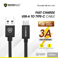 MicroPack USB A to USB-C cable 1 Meter MC-310C