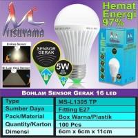 Bohlam Lampu LED Sensor Gerak 5 Watt Putih Mitsuyama MS-L1305TP