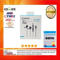 BOYA BY-M2D Dual Clip On Mic Microphone for iPhone iOS Devices ORI